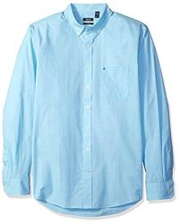 Izod - Big And Tall Essential Solid Long Sleeve Shirt - Lyst