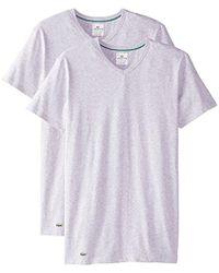Lacoste - 2-pack Colours Cotton Stretch V-neck T-shirt - Lyst