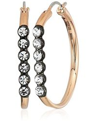 Fossil - Vintage Glitz Line Hoop Earrings - Lyst