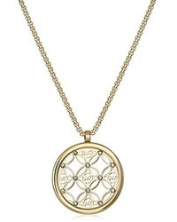 Michael Kors - Mk Open Monogram Disc Pendant Necklace - Lyst