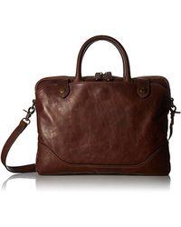 Frye - Logan Slim Zip Briefcase - Lyst