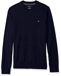 Tommy Hilfiger - Big And Tall Solid Long Sleeve Sweater - Lyst
