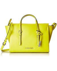 365c57fdcd Calvin Klein Leather Tote Bag in Metallic - Lyst