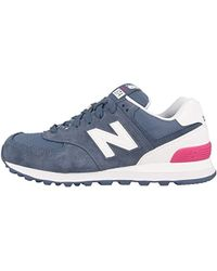 2aa03ffff7f58 New Balance 373 Suede And Mesh Trainers in Purple - Lyst