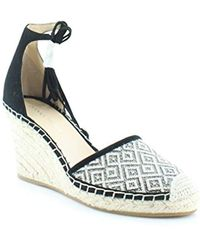 d0c7991abfe Lyst - Ivanka Trump Wadia3 Espadrille Wedge Sandals in White