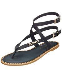 02f1f7890 Tommy Hilfiger 403 Flat Sandal Women s Sandals In Blue in Blue - Lyst