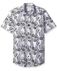 Guess - Ink Palm Laguna Shirt - Lyst