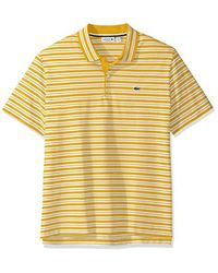 Lacoste - Short Sleeve Pique With Stripe Rib Collar Polo, Ph2047 - Lyst