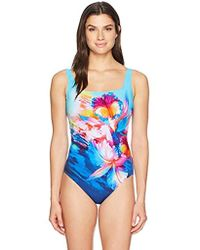 Gottex - Shaped Square Neck One Piece Swimsuit - Lyst