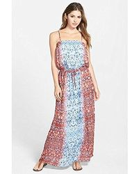 Two By Vince Camuto - Moroccan Tile Paisley Waist Tie Maxi Dress - Lyst