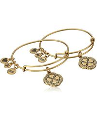 ALEX AND ANI - Mom And Daughter Infinite Connection Set Of Two Bangle Bracelet - Lyst