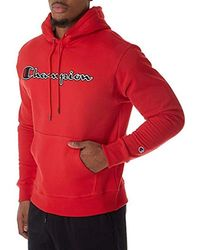 94b7e78c150c Champion - Graphic Powerblend Fleece Hood - Lyst