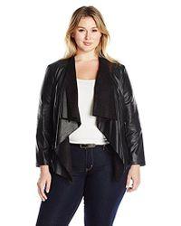 Levi's - Plus Size Faux Leather Cascade Front Jacket - Lyst