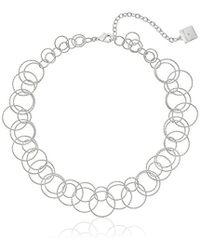 Anne Klein - Circle Around Open Link Necklace - Lyst