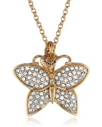 """Juicy Couture - Pave Butterfly Necklace, 31.21"""" - Lyst"""