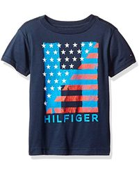 Hilfiger Denim - Big Boys' Short Sleeve Crew Neck Flag Graphic T-shirt, Swim Navy, Xlarge (20) - Lyst