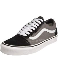 3496c5dd9d8f97 Vans - Unisex Adults  Old Skool Classic Suede canvas Trainers - Lyst