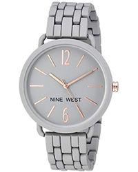 Nine West - Rubberized Bracelet Watch - Lyst