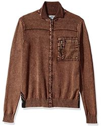 Buffalo David Bitton - Wipatch Long Sleeve Full Zip Fashion Sweater - Lyst