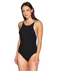 French Connection - One Piece Solid Swimsuit - Lyst