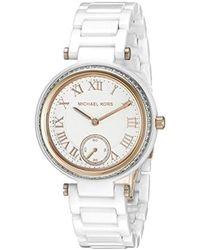 05b4ff263be7 Michael Kors - Mini Skylar White Watch Mk6240 - Lyst
