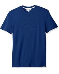Lacoste - Short Sleeve Graphics Jersey Padded Croc Reg Fit T-shirt, Th3233 - Lyst