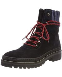 Tommy Hilfiger - Modern Hiking Boot Suede Combat - Lyst 4547546640a