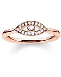 Thomas Sabo - Glam & Soul, anello da donna, in argento Sterling 925, placcati in oro rosa 18 K - Lyst