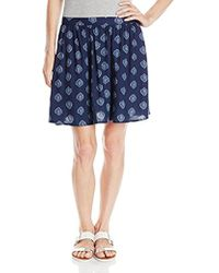 Lucky Brand - Woodstamp Flirty Skirt - Lyst