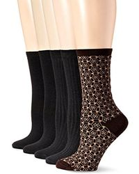 Anne Klein - Too Pretty Patterned Crew Socks 5-pack - Lyst