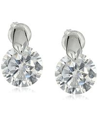 Anne Klein - Hey Cubic Zirconia Stud Earrings - Lyst