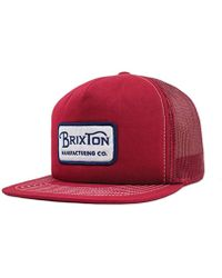 Lyst - Brixton Soto High Profile Snapback Hat in Natural for Men 883789f5b179