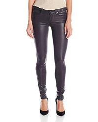 PAIGE - Verdugo Ultra Skinny Jeans-smoke Grey Luxe Coating - Lyst