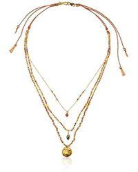 "Chan Luu - Triple Beaded Strand Necklace, 17"" - Lyst"
