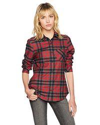 508eb20087e0db Lyst - Urban Outfitters Bdg Frankie Boyfriend Flannel Shirt in Blue