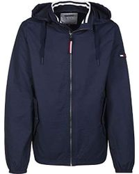 0061f3524edb Tommy Hilfiger Essential Straight Bomber Jacket in Natural for Men ...
