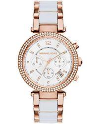 Michael Kors - White Mini Parker Watch - Lyst
