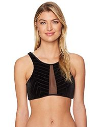 Kenneth Cole - Sultry Solid High Neck Bikini Top - Lyst