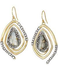 Alexis Bittar - S Crystal Encrusted Spiral Drop Earrings, 10k Gold - Lyst