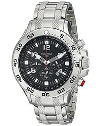 Nautica - Watches S Nst Stainless Steel Chronograph Watch - Lyst