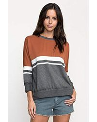 RVCA - Junior's Gym Class Sweatshirt - Lyst