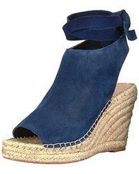 Loeffler Randall - Lyra Ankle Tie (suede) Espadrille Wedge Sandal - Lyst