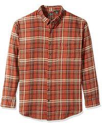 G.H. Bass & Co. - Big And Tall Fireside Flannel Plaid Long Sleeve Shirt - Lyst