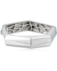 Ron Hami - Geo Sterling Silver Wide Bangle Bracelet - Lyst