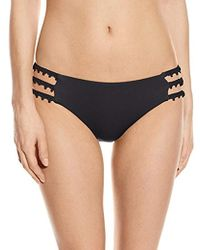 Lucky Brand - Natural Fever Hipster Bikini Bottom With Crochet Insets - Lyst