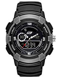 Skechers - Quartz Plastic And Polyurethane Casual Watch, Color:black (model: Sr1073) - Lyst