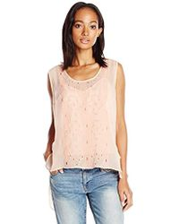 Plenty by Tracy Reese - Embroidered Tee Xs-l - Lyst