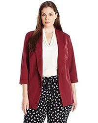 New Look - Plus-size Riverpool Blazer, Plum, 26/22 - Lyst
