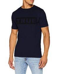 True Religion - Crew Shirt Block True, T Uomo, Blu (Solid Navy 4142), XXL - Lyst