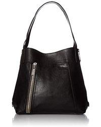 Frye - Lena Zip Shoulder (grey Soft Lambskin) Shoulder Handbags - Lyst c31060dfff36e